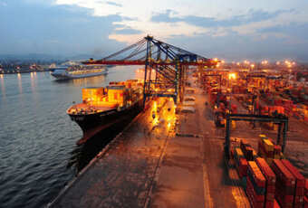 Foto ilustrativa de um porto
